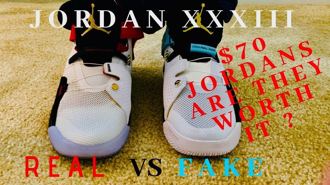 d97c0e0981c7 Dhgate Jordans 33 (real vs fake) review . - YouTube
