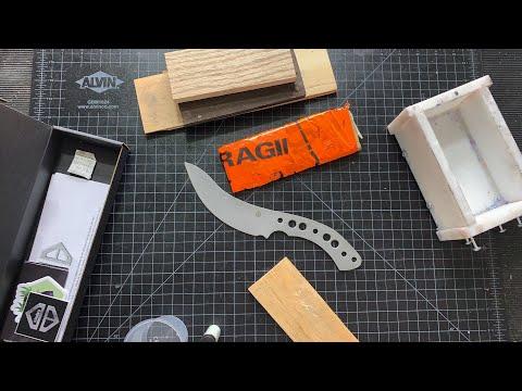 Casting Burnt Wood & Resin Shoushugibon Knife Scales!