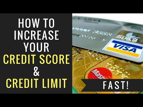 How To Increase You Credit Score & Credit Limit Fast