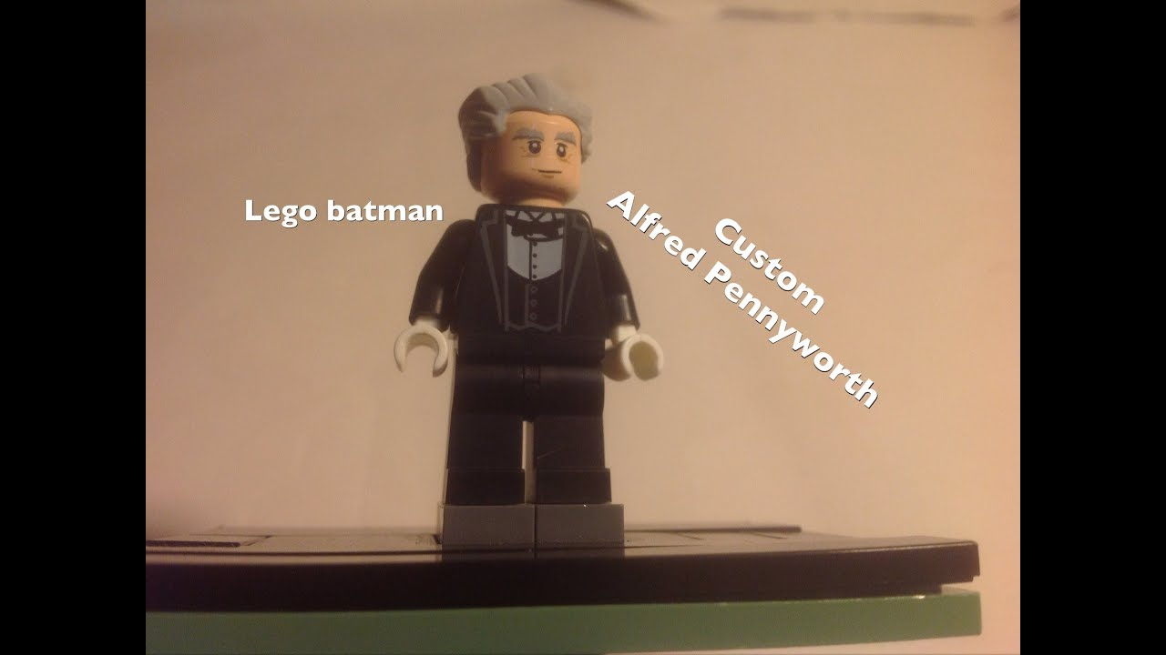 Lego Batman custom Alfred Pennyworth minifigure - YouTube