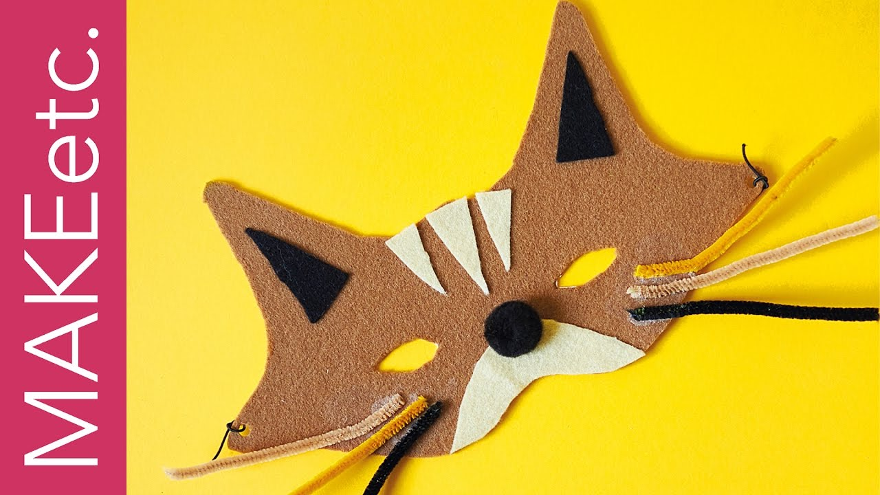 How To Make A Felt Cat Mask For Halloween Easy Craft