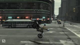 Gta 4 Bike stunt and crash. Cool Pc edited
