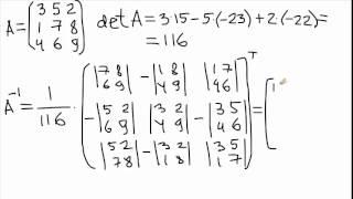 2015-01-28. Обратная матрица 3x3