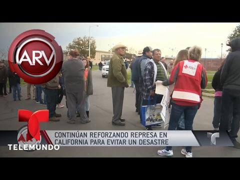 Continúan reforzando represa de Oroville en California | Al Rojo Vivo | Telemundo