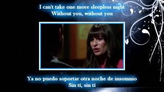 Download Glee - Without you / Sub spanish with lyrics MP3 song and Music Video