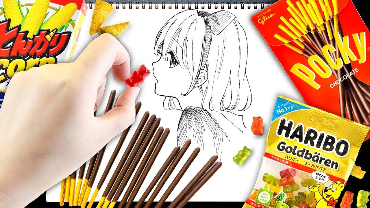 """プロ絵師が""""人気お菓子""""でイラスト描いたら最高にキュンなもの誕生しちゃったかも!?【プロ漫画家イラスト漫画教室】"""