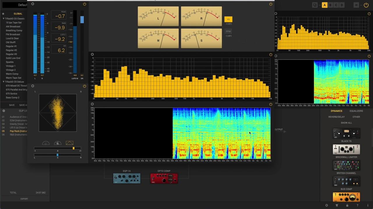 T-RackS 5 Mixing & Mastering Software In-Depth
