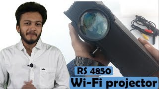 {HINDI} UNIC UC46 LED PROJECTOR WI-FI READY || cheapest wireless projector || 2018