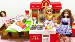 リカちゃん マクドナルド ショップ / McDonalds store Playset : Licca-chan Doll Toys Miniature McDonalds Store ! thumbnail