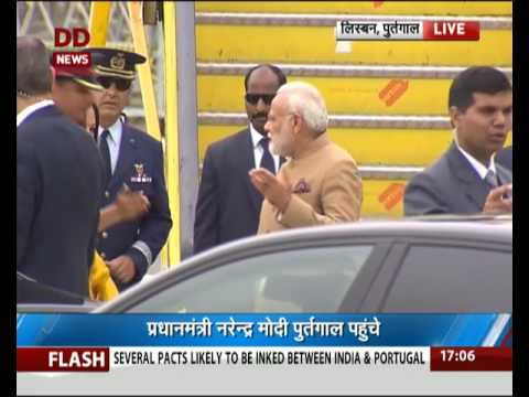 PM Modi arrives at Portuguese capital Lisbon on his 1st leg of 3-nation visit