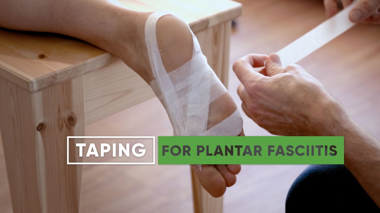 hight resolution of plantar fasciitis taping