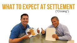 "Home Buyers & Sellers: What to expect at settlement (""closing"")"