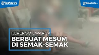 Kepergok Berbuat Mesum Di Tempat Umum, 2 Pasangan Remaja Diamankan Warga Ciracas Jakarta Timur