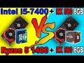 Ryzen 5 1400 vs i5 7400  |RX 580 8GB| |Comparison|