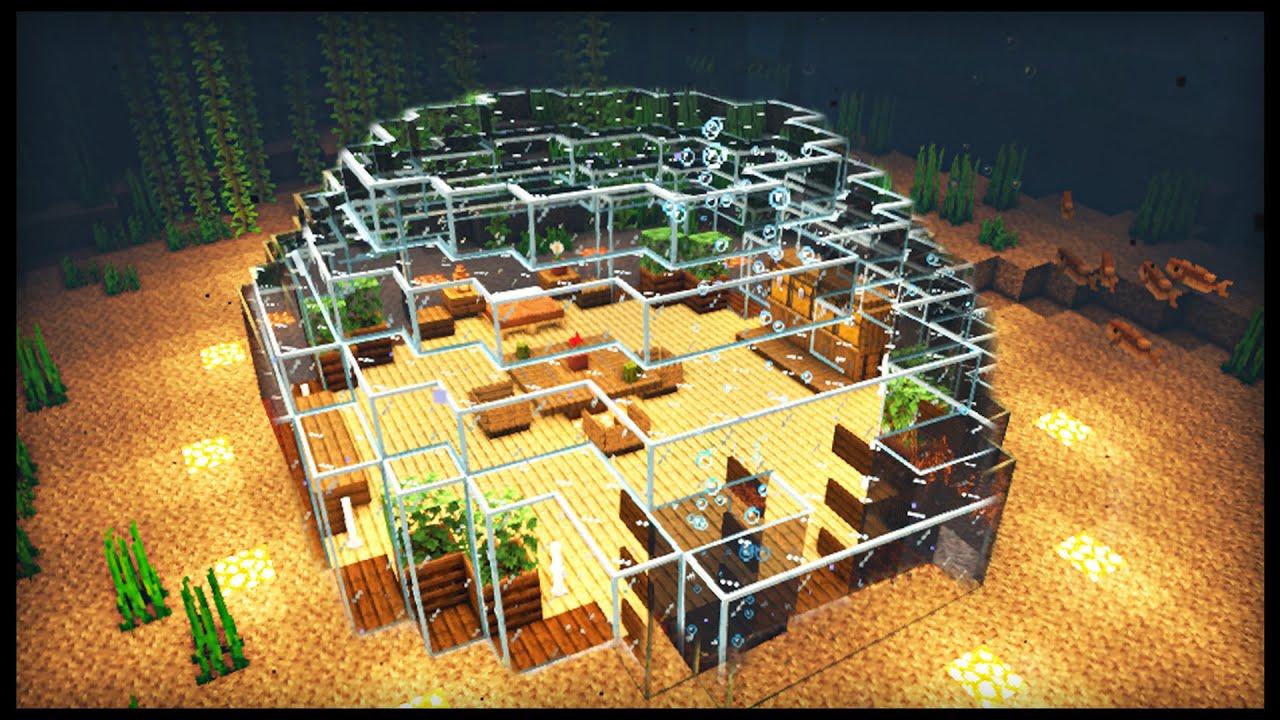 Minecraft Underwater House : How to make an Easy Underwater House (tutorial)
