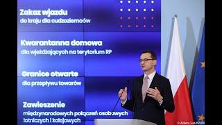Konferencja prasowa premiera Mateusza Morawieckiego, Łukasza Szumowskiego oraz Mariusza Kamińskiego