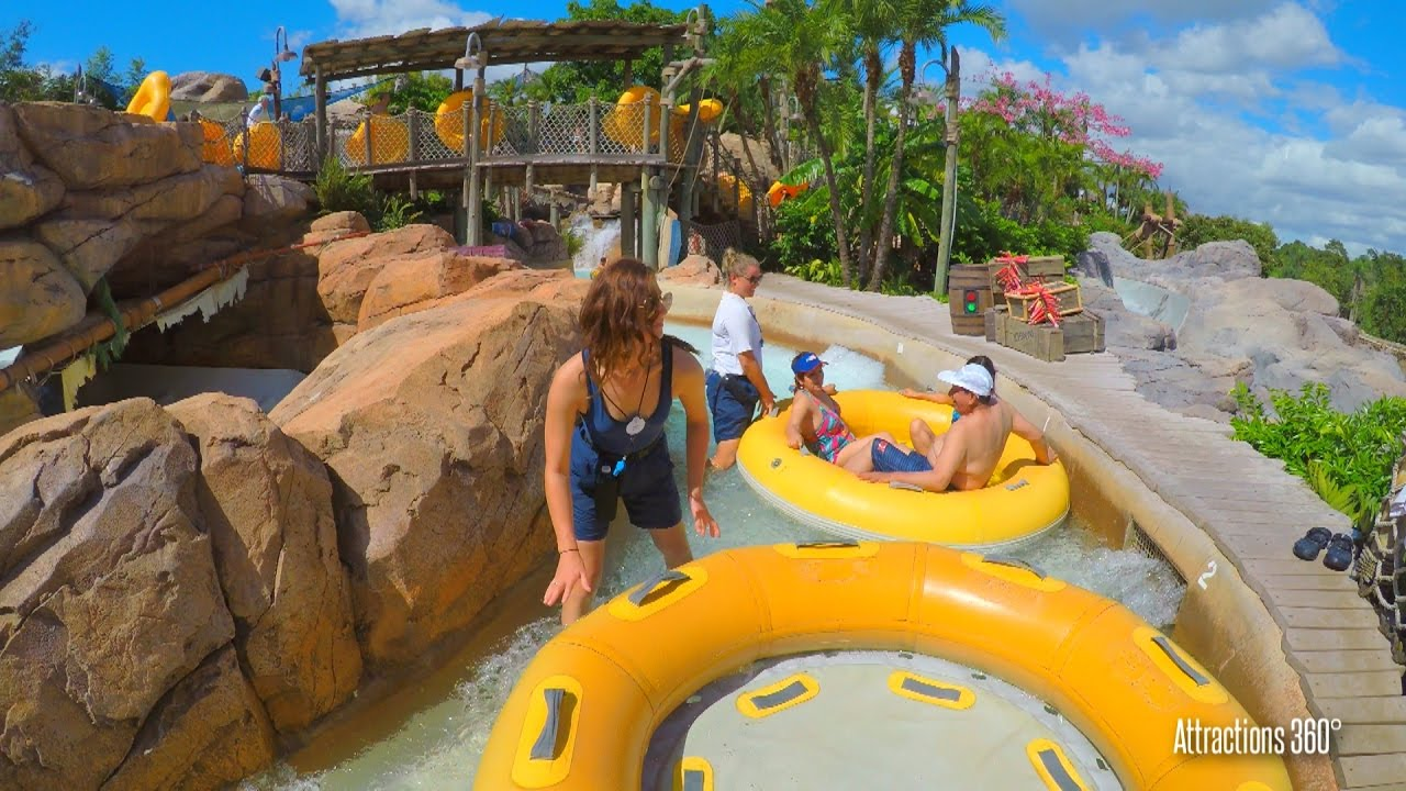 d65c048748c0b [4K] Fun Raft Water Ride - Gangplank Falls - Disney's Typhoon Lagoon -  YouTube