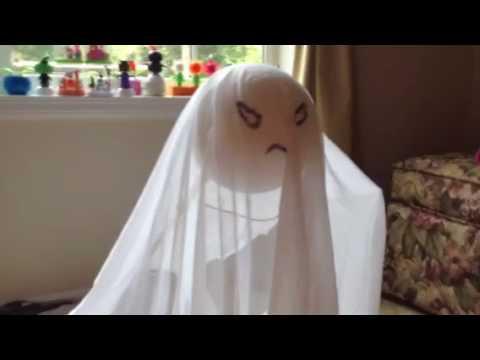 floating ghost homemade halloween animatronic