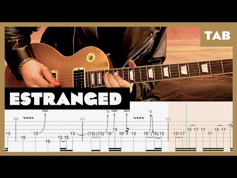 Estranged Guns N' Roses Cover | Guitar Tab | Lesson | Tutorial