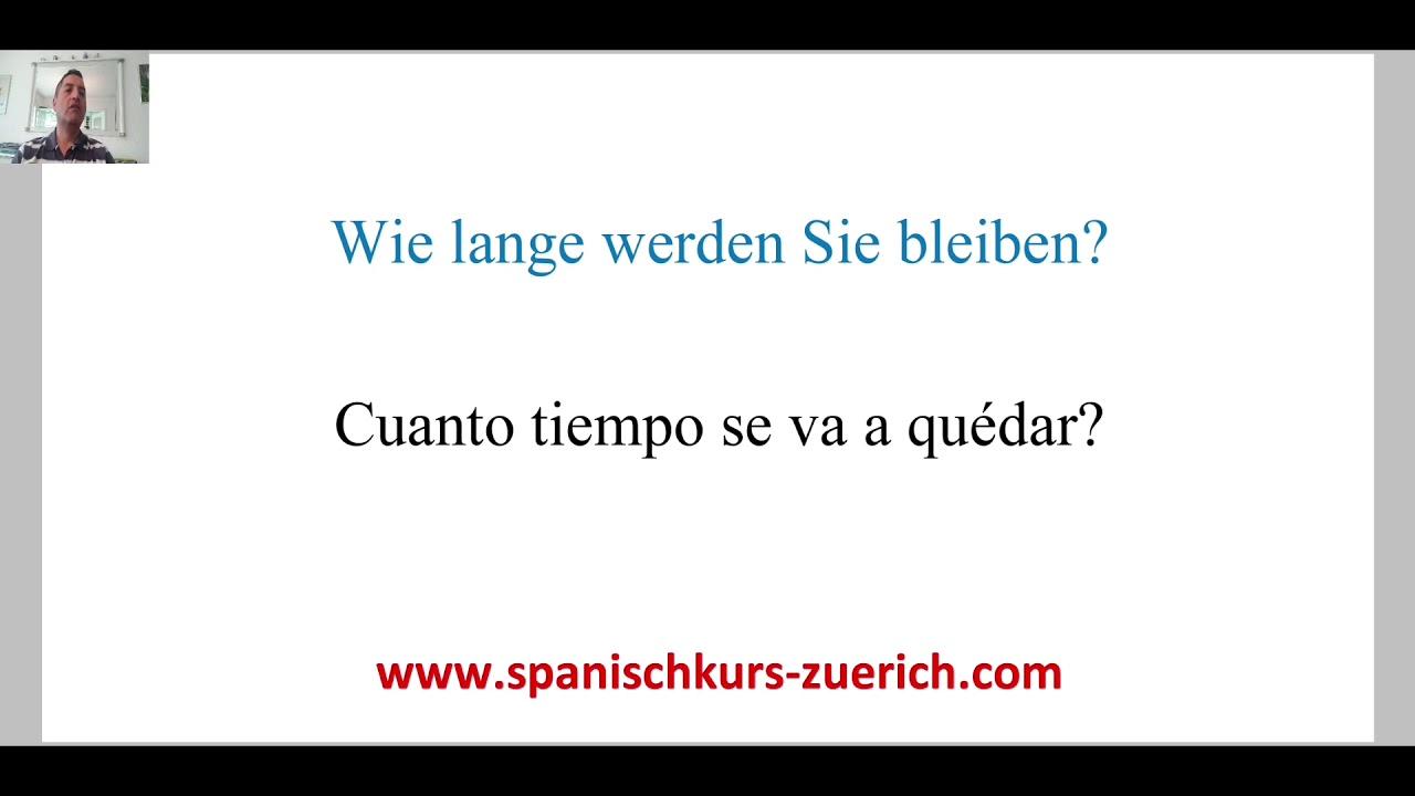 Bleiben Spanisch