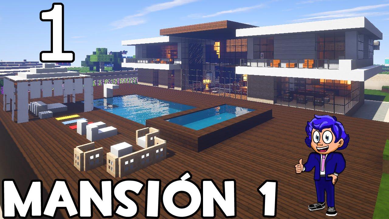 Minecraft mansi n 1 parte 1 presentaci n y aventura - Construcciones de casas modernas ...