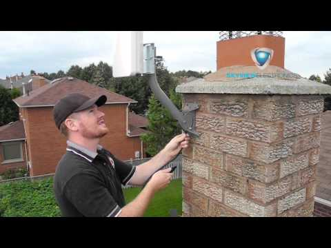 Hdtv Antenna Chimney Installation By Skyview Electronics