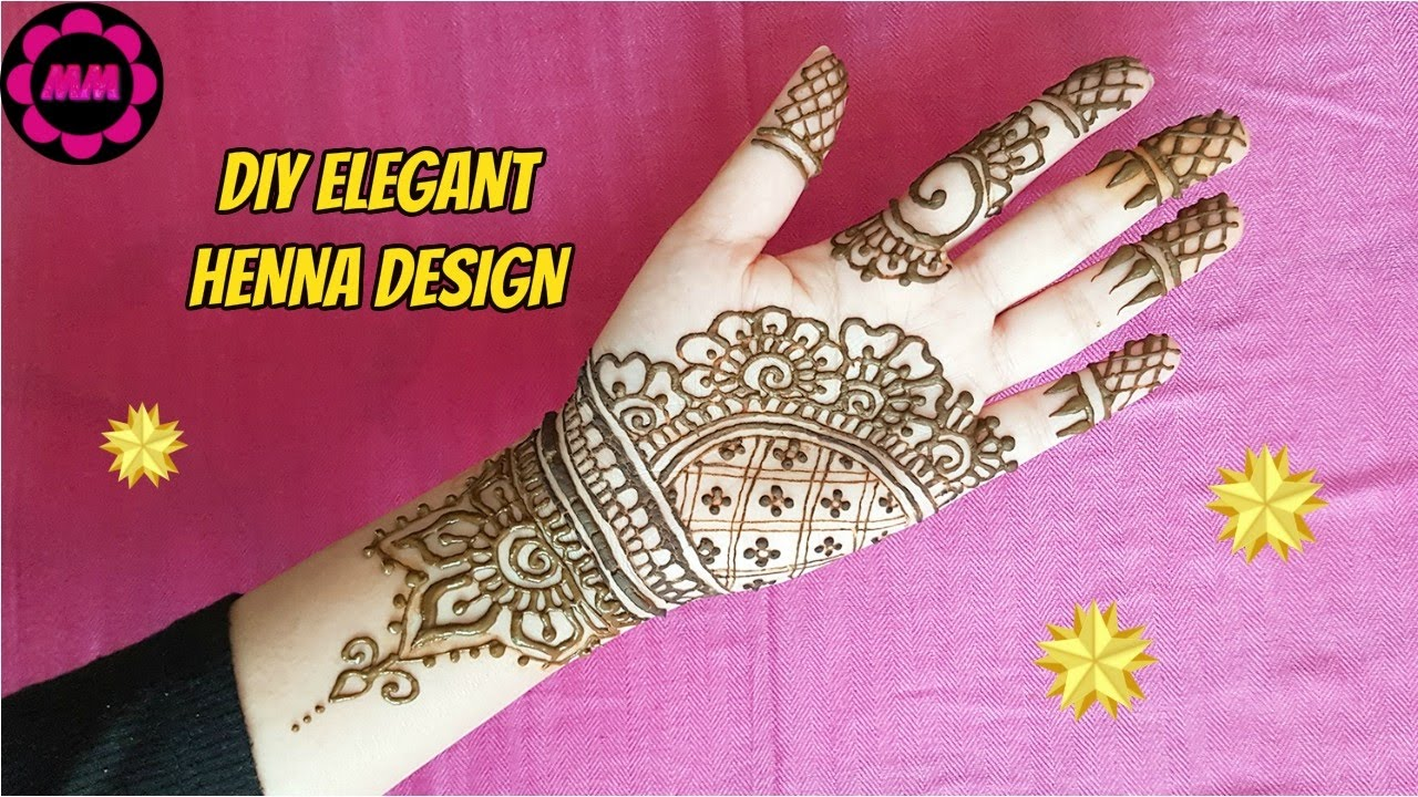Diy Henna How To Apply Easy Simple Indian Style Mehendi Design