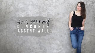 DIY Concrete Accent Wall   Starting My Shed-Shop Makeover!