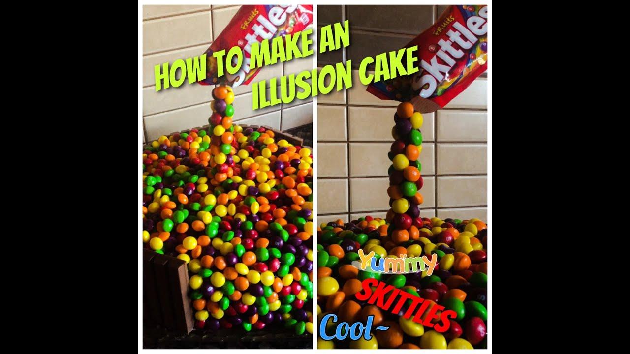 Skittles Rainbow Cake