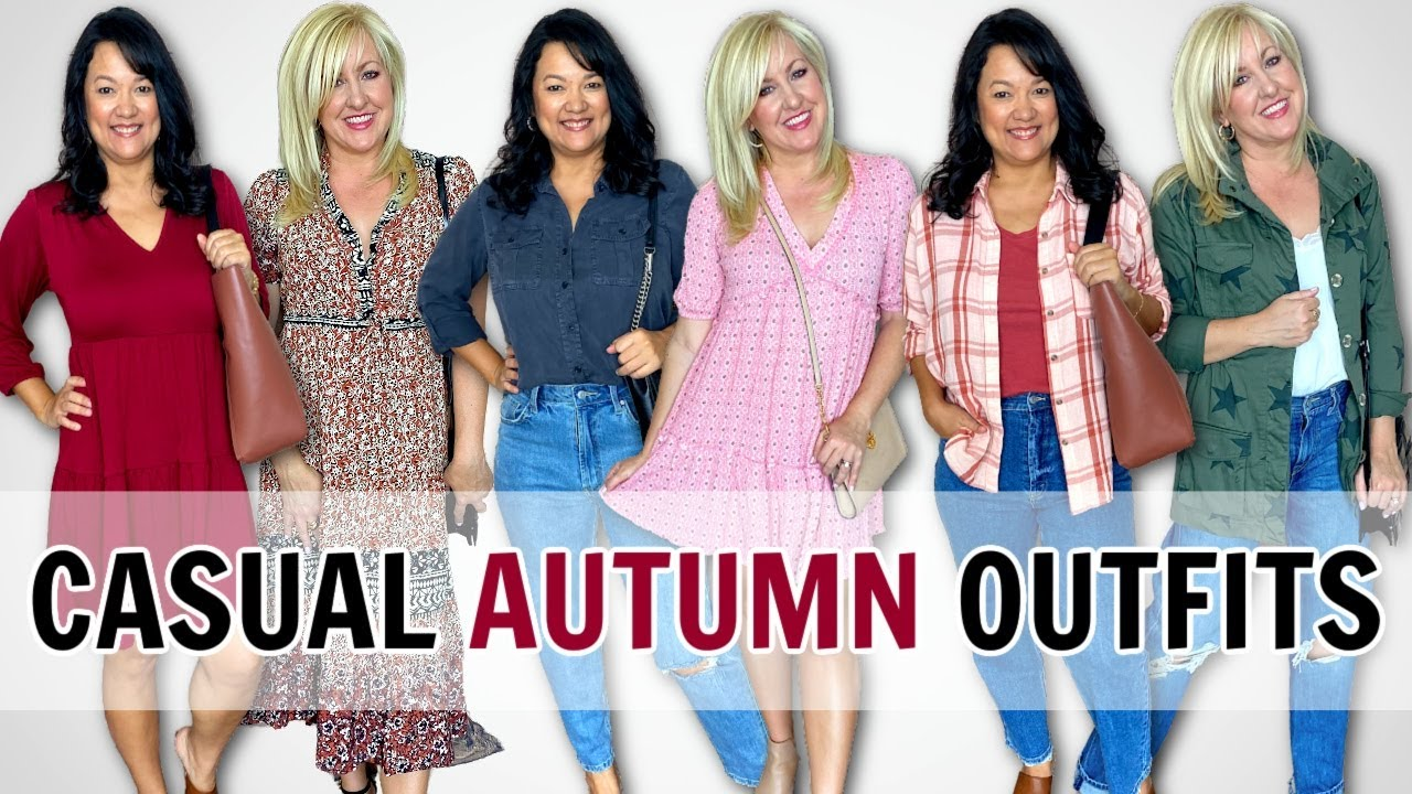 EASY AUTUMN FALL 2021 OUTFITS for Women Over 40 | Casual Fall Outfits
