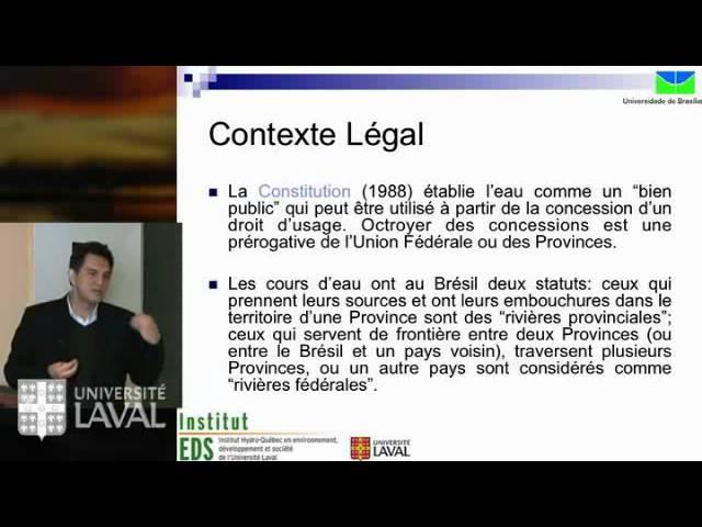 OOscar de Moraes Cordeiro Netto - L'état de la gestion de l'eau au Brésil