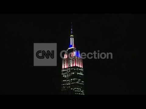 NY- EMPIRE STATE BUILDING IN RED WHITE amp; BLUE