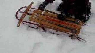 Sledding In Fresh Deep Snow