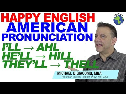 I'll He'll She'll They'll Natural American English Pronunciation Lesson 英語の発音