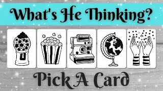 WHAT'S HE THINKING / FEELING? 🤔💖🥰 *Pick A Card* Love Tarot Reading Charm Dice Twin Flame Soulmate Ex