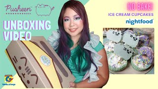 Pusheen Box Unboxing Video Featuring Nightfood Ice cream No- Bake Cupcake Recipe