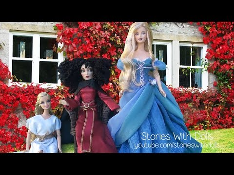 Bedtime Story w/ Toys & Dolls !! Toads & Diamonds - A Fairy Tale Told With Barbie Dolls & Kids Toys