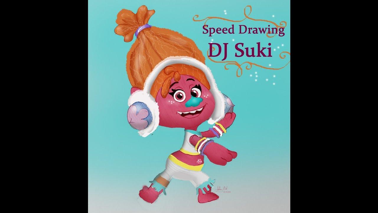 speed drawing dj suki from quot trolls quot