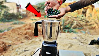 Grinding Glass Marbles In Mixer Grinder || Glass Marbles Grind Or Not || Experiment King