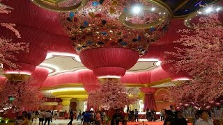 OKADA MANILA CASINO GRAND INTERIOR FOYER RECEPTION HALL and Amazing Hallways