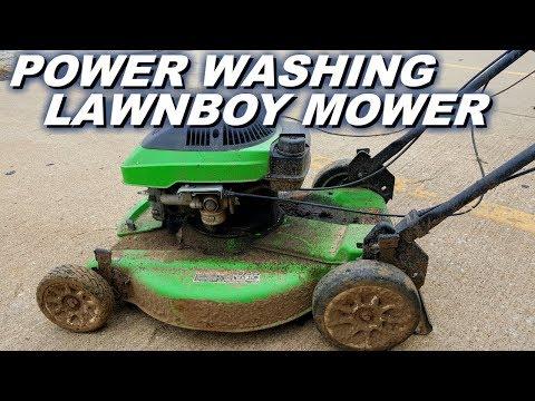 Lawnboy mower powerwash