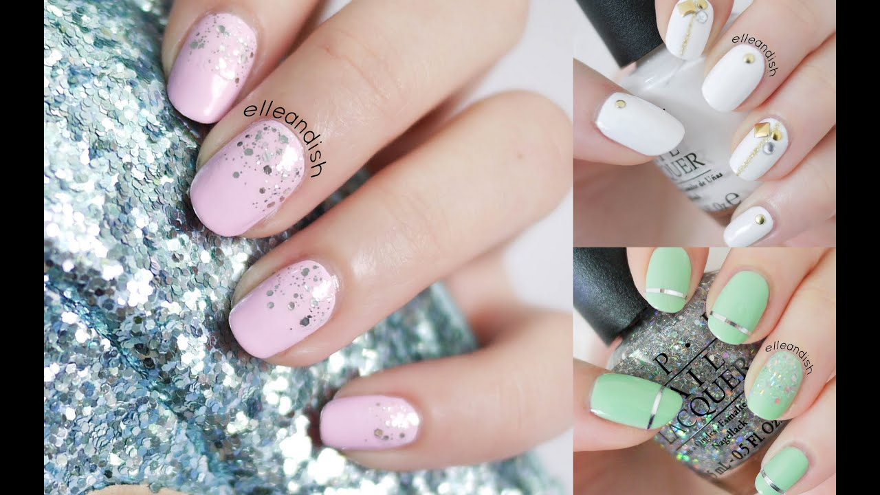 Prom Nails: 3 Easy Styles - YouTube