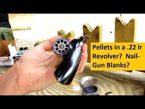 Pellets & Nail-Gun Blanks in a 22 lr Revolver? (short)