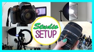 My Lighting, Camera & Studio Setup: How to Create Great Videos!(Tips and tricks how set up your Youtube videos for perfect lighting conditions. Also an look into the cameras, lenses, and other gear I use most regularly on my ..., 2014-08-29T19:21:19.000Z)