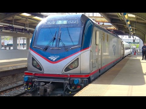 ⁴ᴷ Amtrak and MARC Train Action at Baltimore Penn Station
