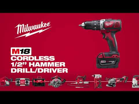 Milwaukee 2607 M18 1/2 Inch. Compact Hammer Drill Driver