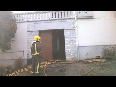 Herido un quirogués que acudió a sofocar un incendio en la casa de su vecina