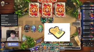 Disguised toast goes to Fatigue against Quest Warrior with a Kazakus Priest (Un'Goro)