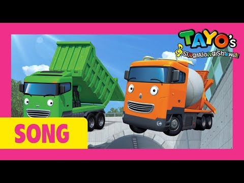 Tayo the strong heavy vehicles in Real Life l Tayo's Sing Along Show 1 l Tayo the Little Bus