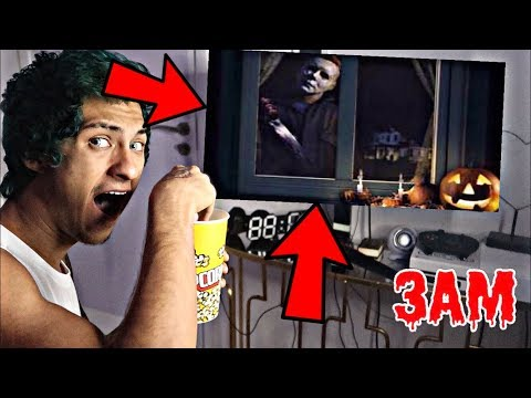 DO NOT WATCH HALLOWEEN MOVIE AT 3AM!! *OMG HE ACTUALLY CAME TO MY HOUSE*